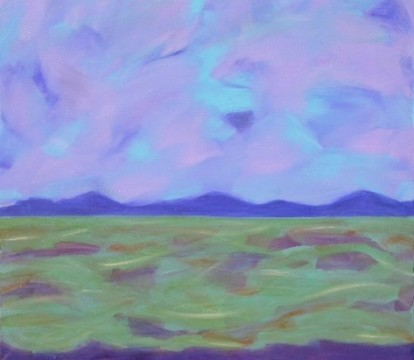Coastal Plain, acrylic on canvas, 30