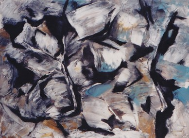 Canyon Rocks, mixed media on paper, 30