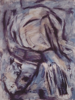 Embedded Head, mixed media on paper 24