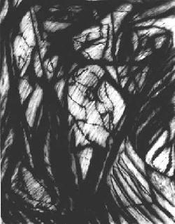 Fetes, charcoal 23