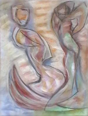 Flamenco 10, pastel, 16.5