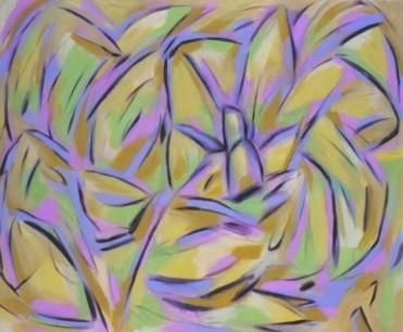 Forest Facade, acrylic on canvas, 95