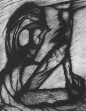 Speed of Light 1, charcoal , 11