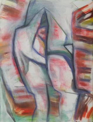 Crevasse Dweller, pastel, 13.75
