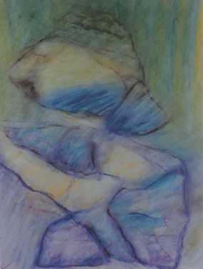 Dream Figure, pastel, 12