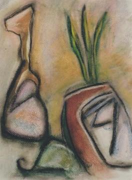 Iberian Still Life, pastel, 10