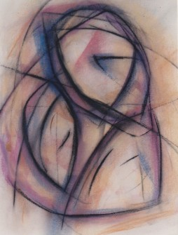 Madonna, pastel, 12