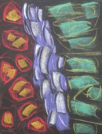 Nocturne 5 conte pastel on paper, 9 3/8