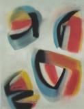 "Jeweled island gouache and pastel, 11.75"" x 15"", 2008, $600"