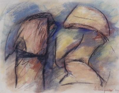 The Conversation, pastel, 16